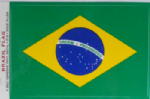 Brazil Country Flag Rectangular Decal.
